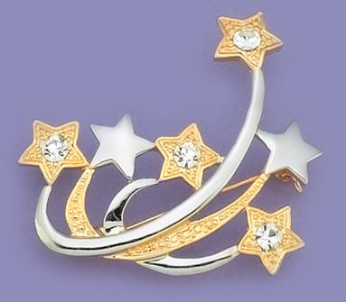 PA244: Two-Tone Shooting Star Pin or Charm Holder