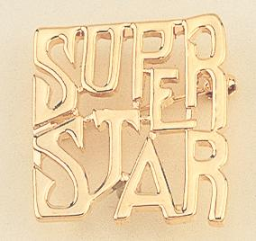 PA32: Gold SUPER STAR Pin