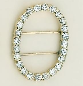 PA51A: Oval Single Row Swarovski Crystal Consultant Enhancer