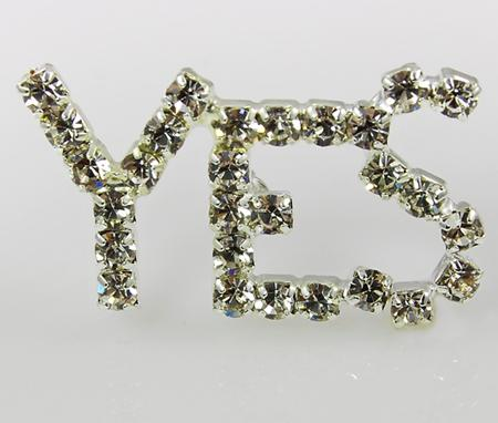 PA527: Yes Austrian Crystal Pin