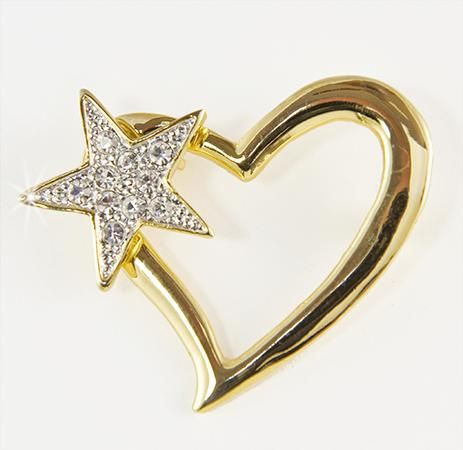 PA565: Heart & Star Pin