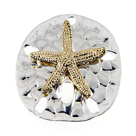 PA617: Golden Sand Dollar Pin