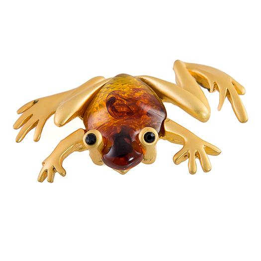 PA619: Golden Frog Pin