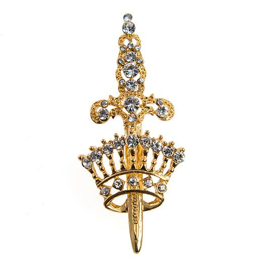 PA634:Crown and Sword Pin