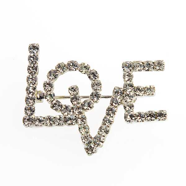 PA652: Crystal LOVE Pin