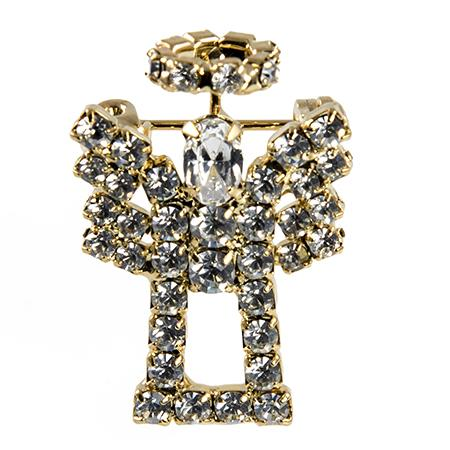 PA676:Crystal Angel Pin