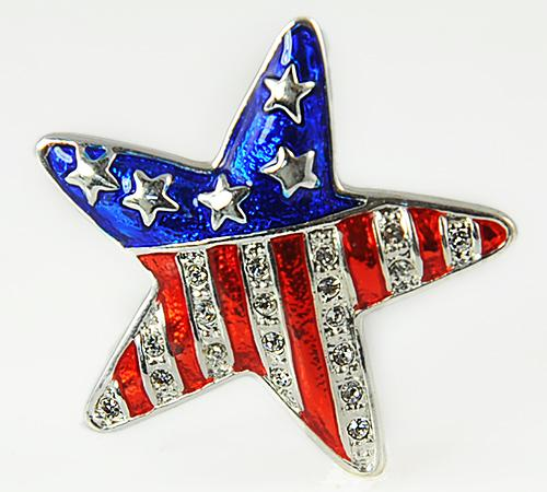 PA541: Red White Blue Star Pin
