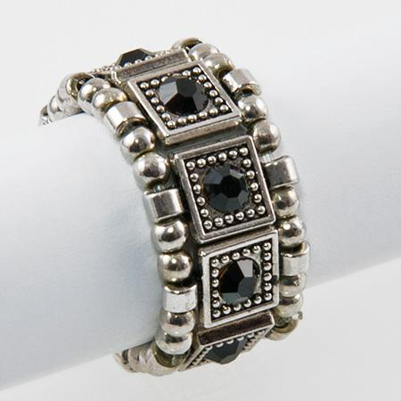 RA115: Yurmanesque Black Stretch Ring