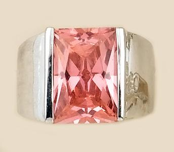 RA84: Million Dollar Pink Ice CZ Ring
