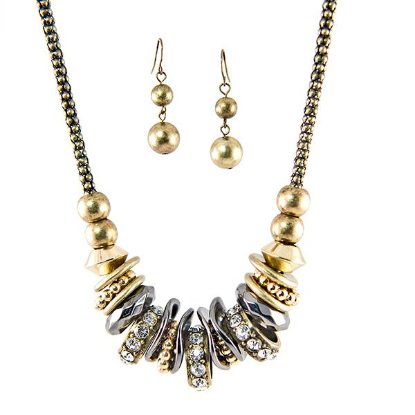 SN265:Two Tone Exotic Necklace