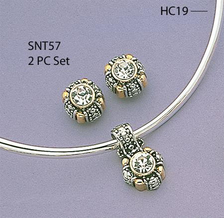 SNT57: Earring & Pendant Set