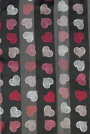 SS26: Heart Scarf in Black