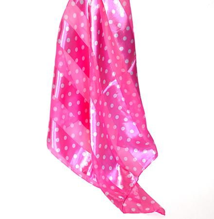 SS37:Black,Red, Purple, & White Polka Dot Scarf