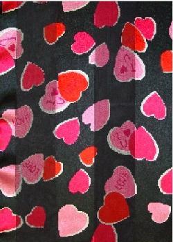 SS41: I Love You Heart Scarf in Black