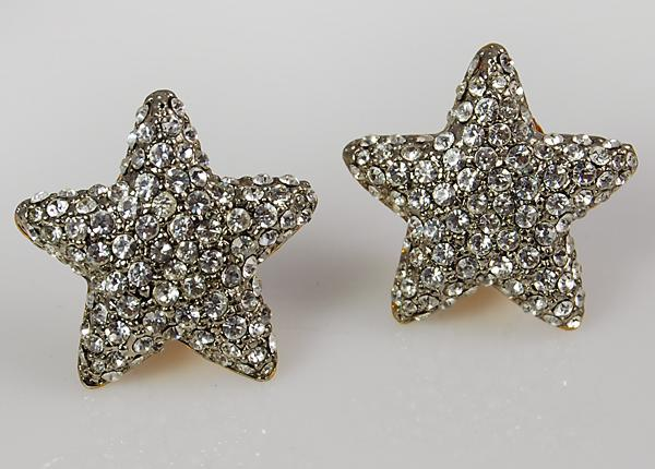 EA481: Austrian Crystal Star Earrings
