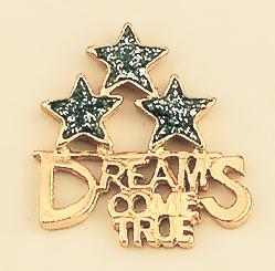 TA288: Dreams Come True Gold Tac with Diamond Dust Stars