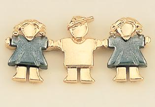 TA292: Two-Tone Gold Three Sales Associates Tac, Female & Male