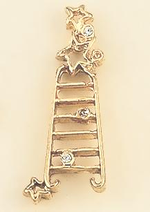 TA367: Ladder of Success Tac in Gold with Crystals