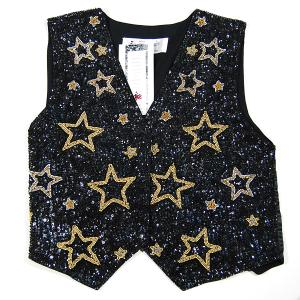 VE163: Starry Night Sequin Vest