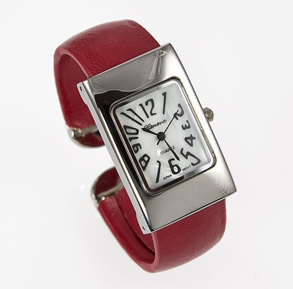 WA33: Cuff / Bangle Watch in Red, Pink, Blue or Black