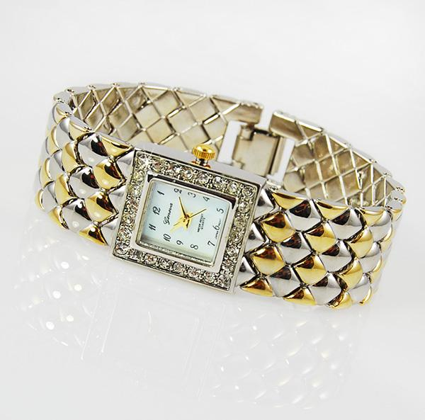 WA92: Silver & Gold Woven Watch