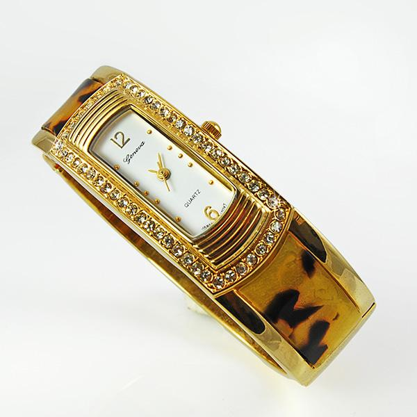 WA94: Simulated Tortoise Shell Bangle Watch