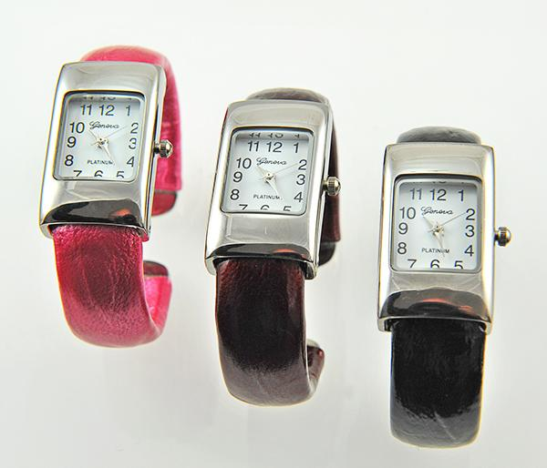 WA99: Pink, Red, Black Cuff Watch
