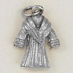 CH216: Fur Coat Charm in Gold or Silver