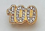 DC100: #100 Bar Pin with Pave Set Crystals