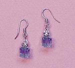 EA483A: Swarovski Crystal Amethyst Earrings