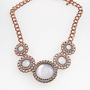 NA291: Rose Gold Opal Necklace