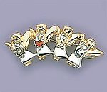 PA382: 2-Tone 4 Angels Pin