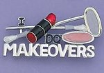 PA396: I Do Makeovers Pin in Silver or Gold