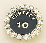 PA447: Perfect 10 Crystal Pin