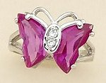RA07: Fushia Butterfly Ring