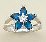 RA54B: Sapphire Floral Ring