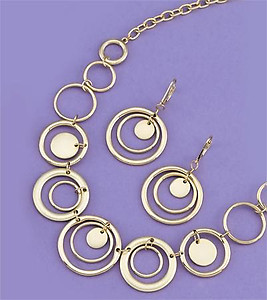 SNT108: Circle of Excellence 2-Piece Set in Gold or Silver