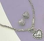 SNT284: Brightonesque Silver Heart Set