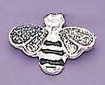 TA373: Diamond-Dust Bee Tac (Silver or Blue)
