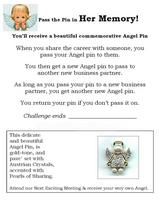 Pass the Pin Angel Promotion Flyer