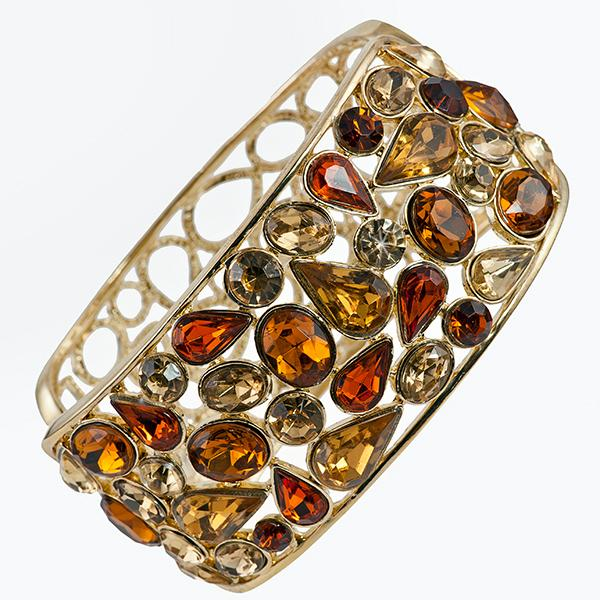 BR294: Exotic Topaz and Amber Cuff