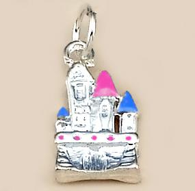 CH193: Castle Charm in Gold or Silver