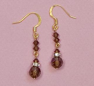 EA426T: Elegant Chandelier Coffee Earrings