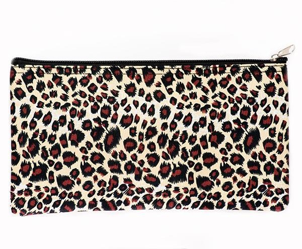 LL18G:Leopard / Cheetah/Giraffe Print Money Bag