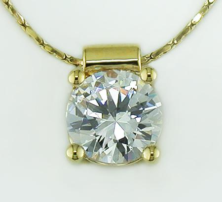 NA187: Princess-Cut CZ Necklace