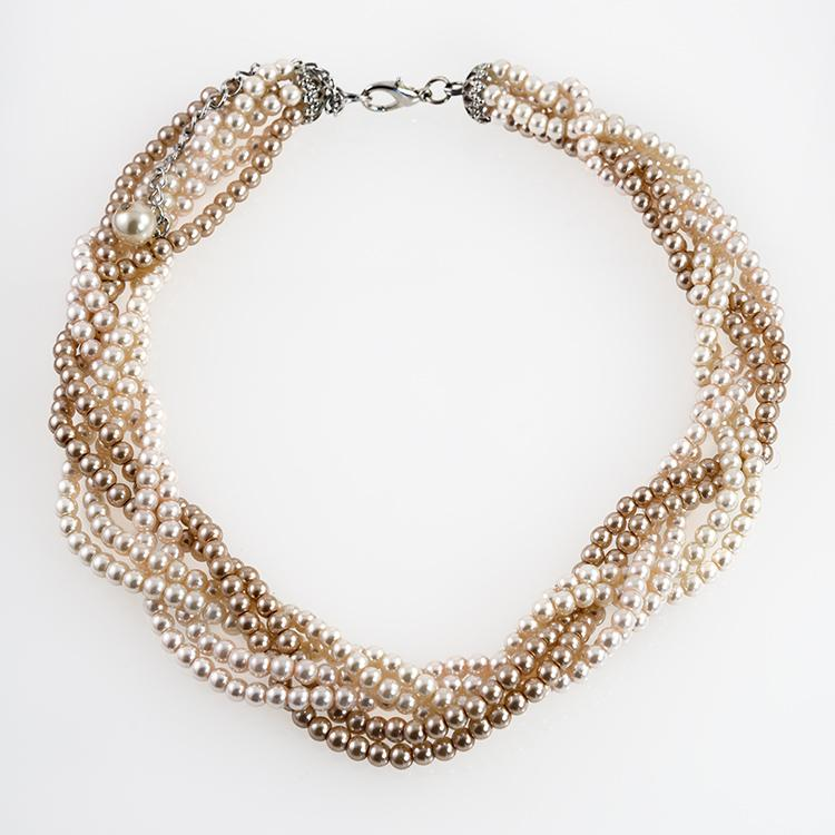 NA285: Multi Strand Pearl Necklace