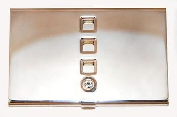 NC089: Silver Business Card Holder