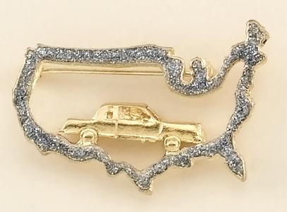 PA490: Travel USA Map Pin