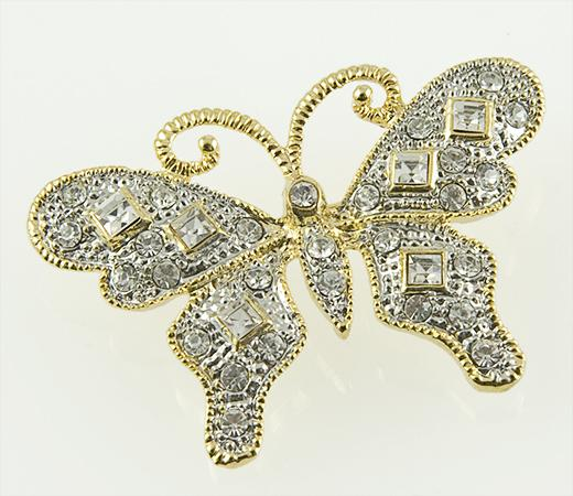 PA546: Crystal Butterfly Pin