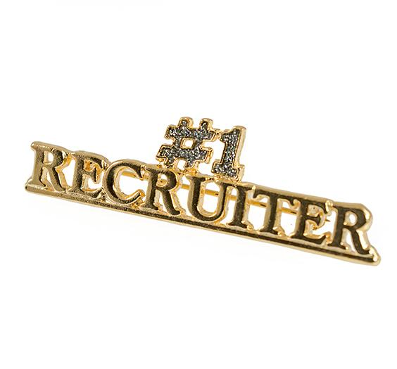 PA389DD: #1 Recruiter Pin